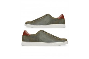 Earthy tone color contrast casual sneakers