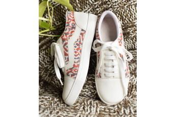 Boho Print White Classic Sneakers