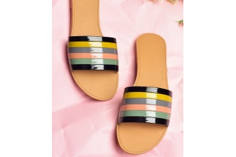 Hollywood Forever Multi Colour Strap Flats