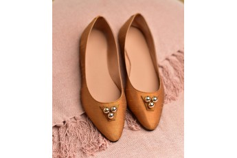 Tip Tap Toe Tan Hue Ballet Flat brown