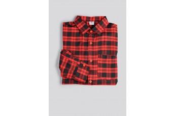 Regular Red Plaid Men Shirt