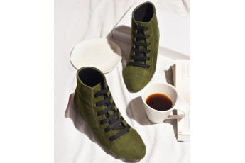 Olive tint boots