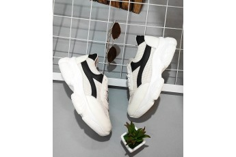 Contest Black Piping Chunky Sneakers