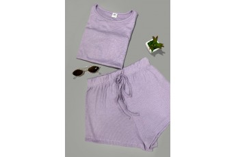 Set of 2 - Drawstring Shorts Two- Piece outfit