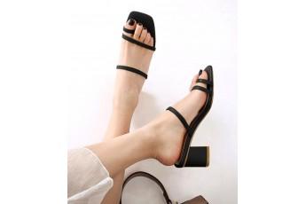 Christina slip on heels Black