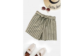 Grey Zigzag Summer Shorts