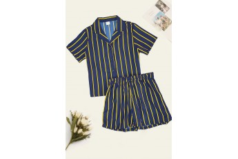 Stripped Shirts Night Suit