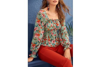 Ruched Pullover Blouse