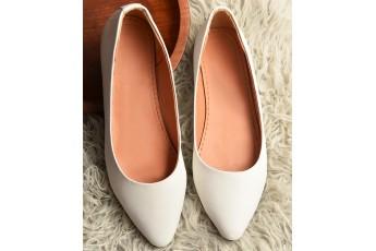 White Lily Ballet Flats