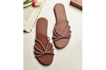 Strings connected easy to wear flats