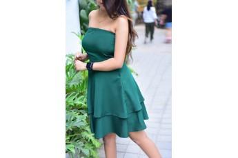 Strapeless A-Line Dress
