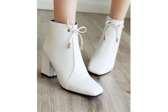For the road white boots