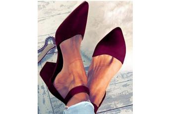 Workwear addition pointed heels marsala