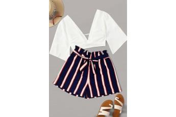 Love stripe shorts