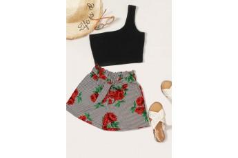 Rose stripe shorts