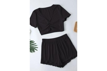 Ruched Two- Piece Outfit