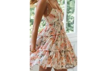 Georgette floral print cute dress