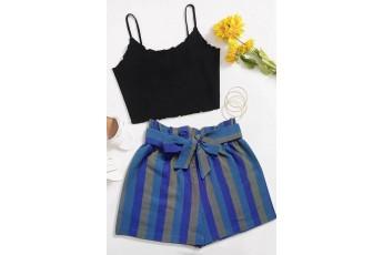 Multi Colour Striped Shorts