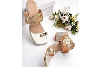 Golden sunset comfort heels