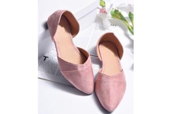 Blush rose ballet flats