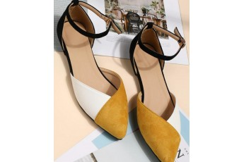 Color block sling back high quality mules
