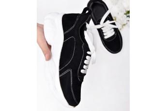 Let's walk around chunky sneakers Black