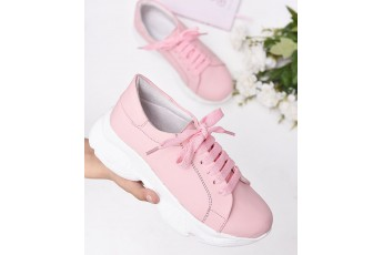 Pastel pink chunky sneakers