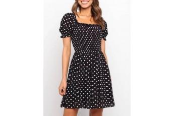 Black Polka Dot Skater Dress