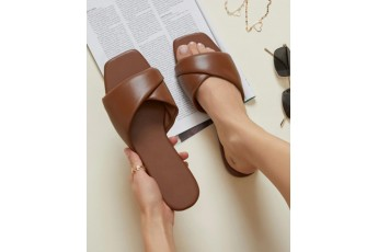 Loving the vibe flats Coffee Brown