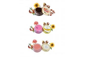 Combo of 3 Rose Lip Balm, Rose Lip Scrub & Coffee Scrub (10gm)