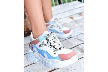 A gossip girl walk chunky sneakers