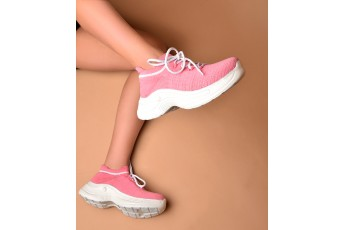 Pink blush sneakers