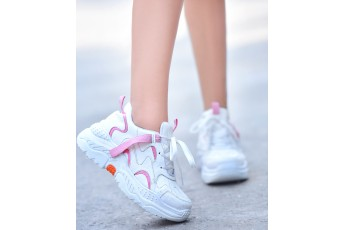 Pink partner white chunky Sneakers
