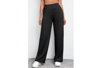 Black Rib Trouser