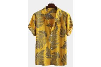 Men's Leaf Printed Shirt