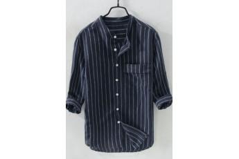 Men's Basic Full Sleeves Striped Shirt