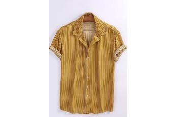 Men's Striped Button Up Shirt