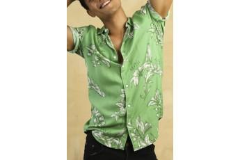 Men's Green Floral Shirt