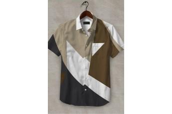 Solid Colors Printed Men Shirt