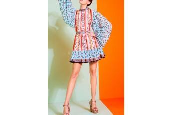 Chintz print short dress
