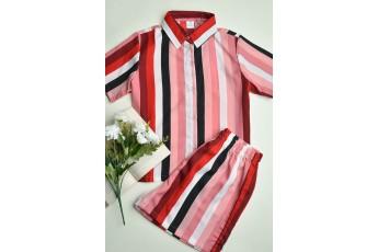Set Of 2 Multi Stripes Regular Nightsuit