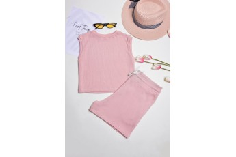 Set of 2- do you believe pastel top with shorts