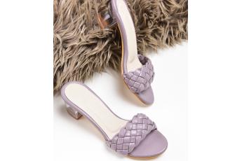 Lavender Hue Transparent Heels