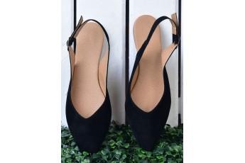 Elegant Black Mules