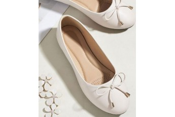 Always with you ballet flats White