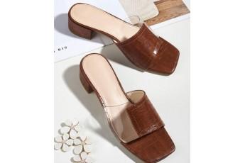 Walk in chic brown heels