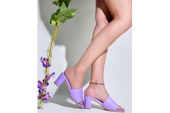 Pleasant weather lavender heels