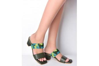 Sap green matching heels