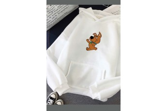 Scooby doo in white hoodie