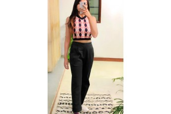 Set of 2 Argyle top with black trouser